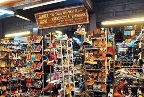 鞋店背景手工制作