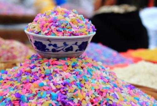 五色花米饭