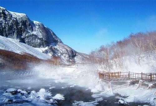 长白山泡温泉