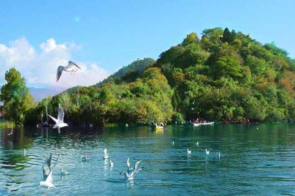 泸沽湖三岛